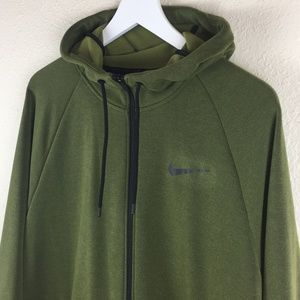 Nike Shirts - Nike Green Dri-Fit Zip Up Hoodie